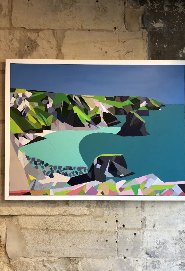 Bedruthan Steps, Acylic on Canvas by Paul Jackson